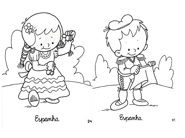 Outfit of Spain, free coloring pages