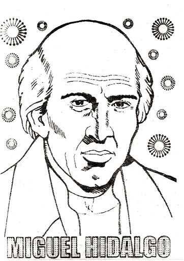 Miguel Hidalgo, Hero of the independence of Mexico - coloring pages