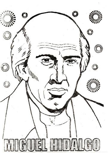 Miguel Hidalgo para colorear