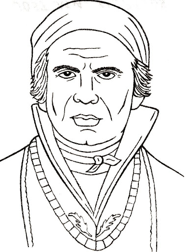 Hero of the independence of Mexico José María Morelos Coloring pages