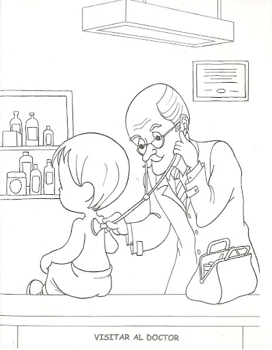 Doctor's day coloring pages