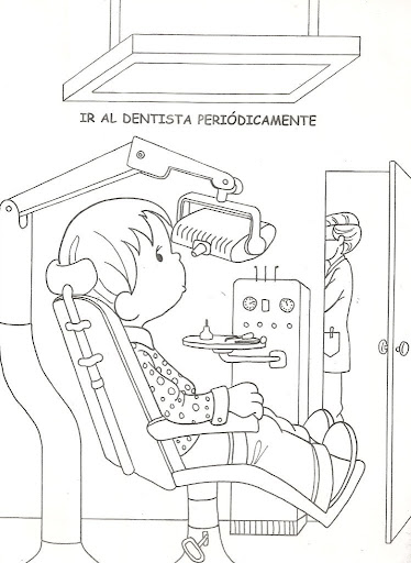 Dentist day coloring pages