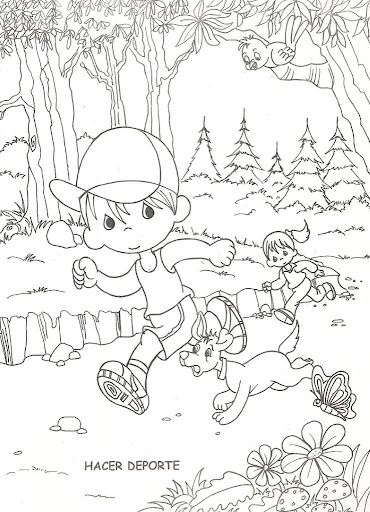 Bou running  coloring pages