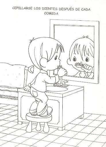 Brushing Teeth Coloring Pages