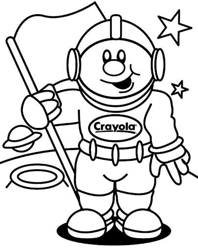 Astronauta para colorear