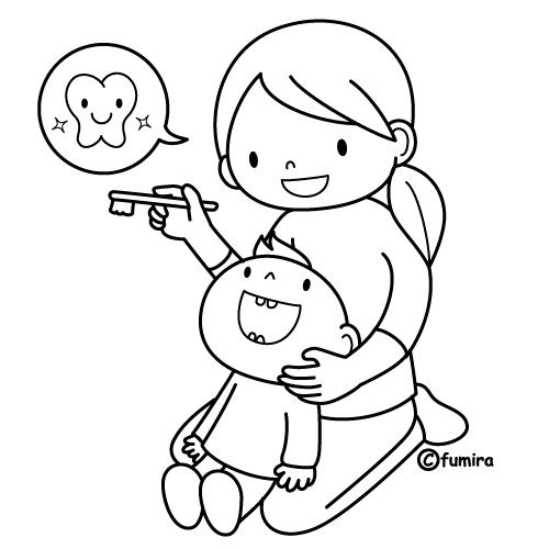 Learn to brush my teeth, free coloring pages | Coloring Pages