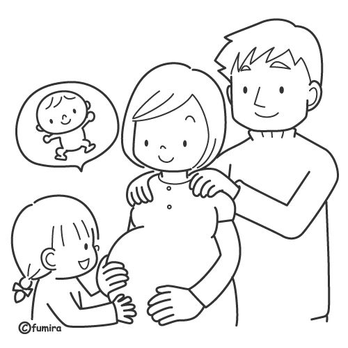 New baby is arriving free coloring pages Coloring Pages