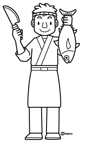 Sushi chef coloring pages Coloring