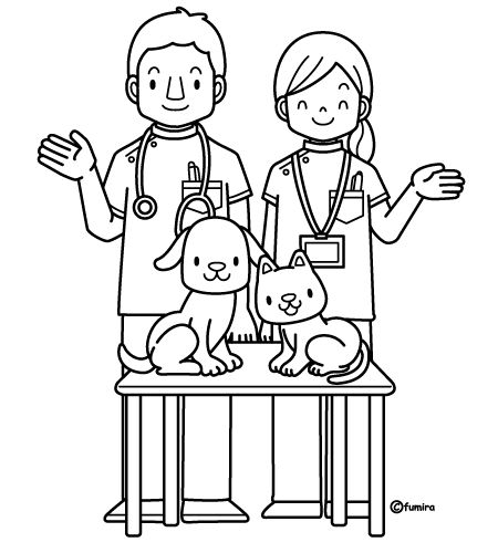 coloring pages veterinarian - photo#1