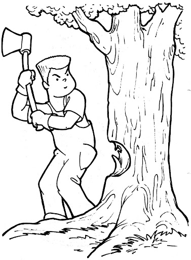 printable lumberjack coloring pages - photo#24