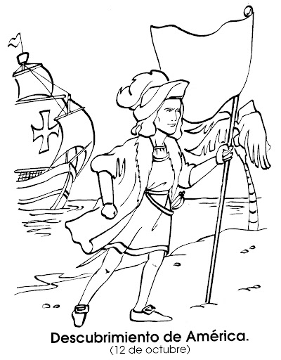 Columbus day - free coloring pages