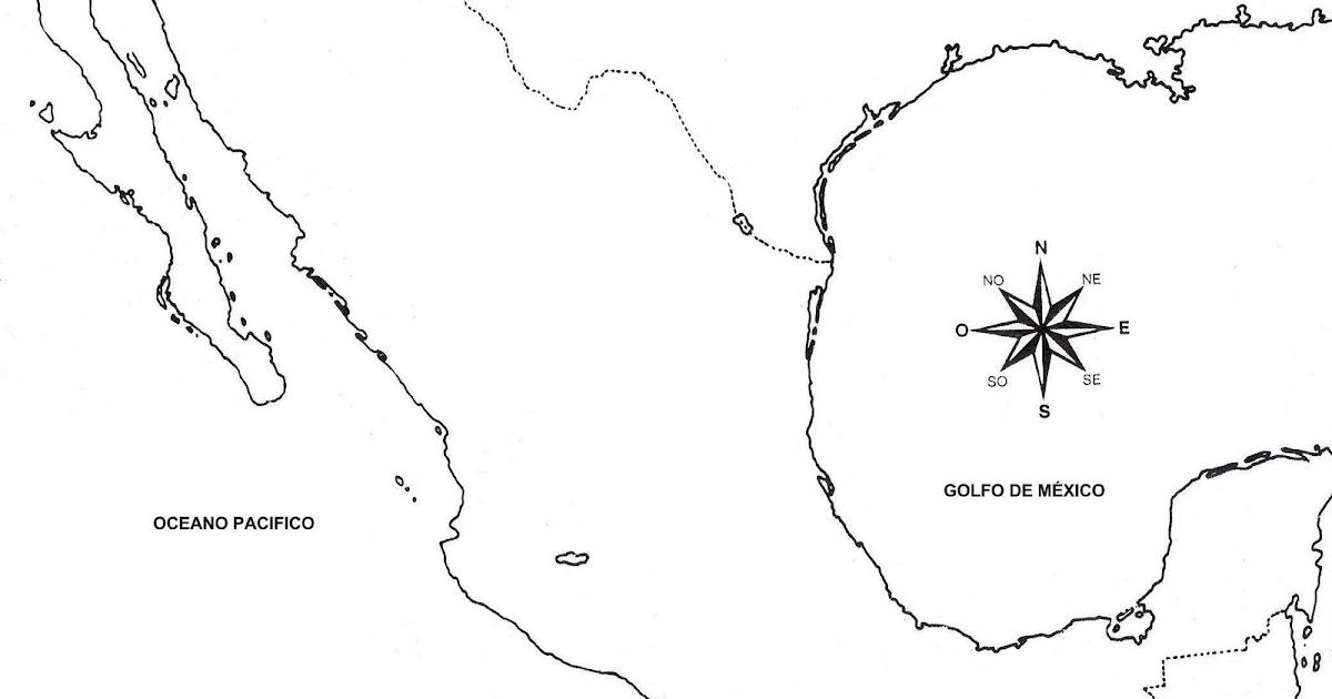 Pinto Dibujos: Mapa de México sin división política para colorear