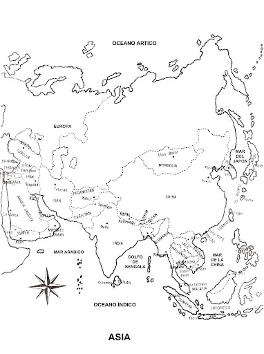 asia map coloring page map of asia in spanish free coloring pages coloring pages