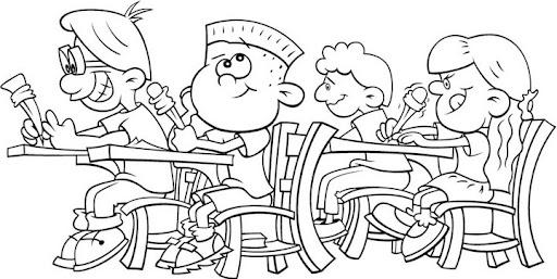 Dibujos para colorear de niños peleando en la escuela - Imagui