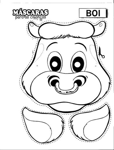 pinto dibujos  m u00e1scara de vaca toro recortar y colorear