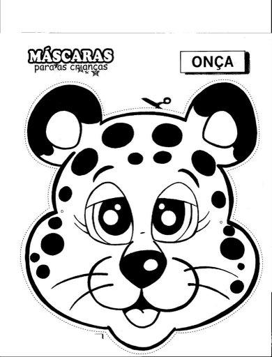 Pinto Dibujos: Máscara de jaguar para colorear