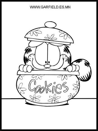 Galletero de Garfield para colorear