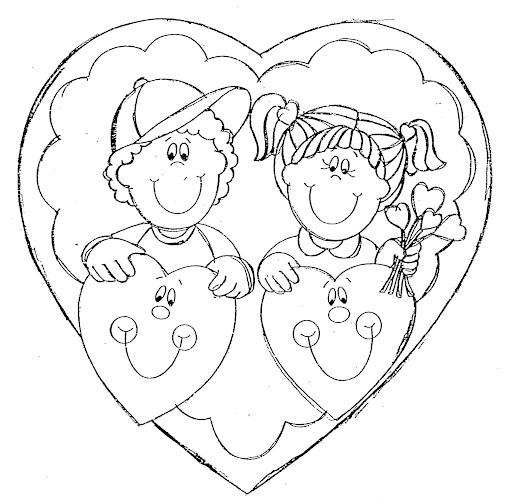 El dia del amor y la amistad para colorear - Imagui