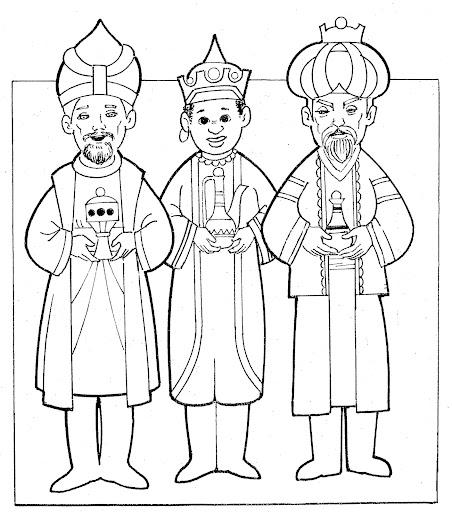 Melchor, Gaspar y Baltazar para Imprimir