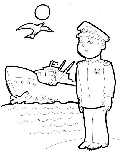 TE CUENTO UN CUENTO: 1° de junio - Día de la marina para colorear