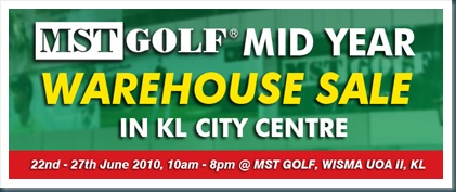 MST Golf Mid Year Warehouse Sale