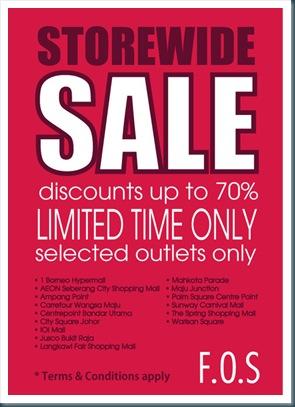 FOS Storewide Sale