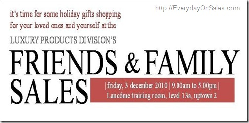 Loreal_Luxury_Divison_Friend_Family_Sale