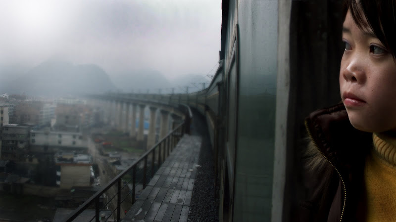 A scene from Lixin Fan's documentary LAST TRAIN HOME