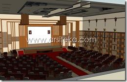 3D Modeling Perencanaan1 - Arsiteka (Ruang Sidang Paripurna DPRD Kabupaten Malang)