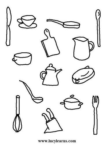 Dibujos de la cocina y sobre la cocina para colorear for Dibujos de cocina