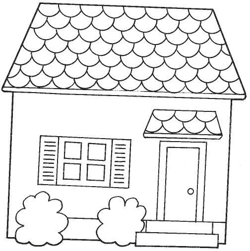 Dibujos de muebles y cosas de la casa para colorear - Imagenes de casas para dibujar ...