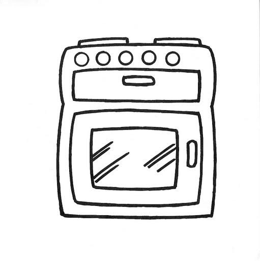 Dibujos de muebles y cosas de la casa para colorear - Estufas para casa ...