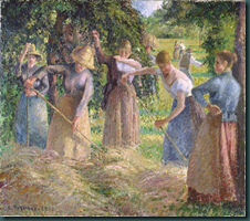 Pisarro Hay Harvest wikimedia commons