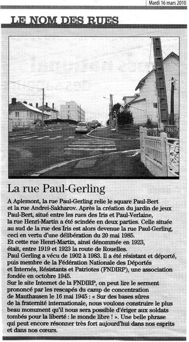 Rue Paul Gerling