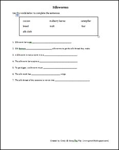 silkworm worksheets | Diigo Groups