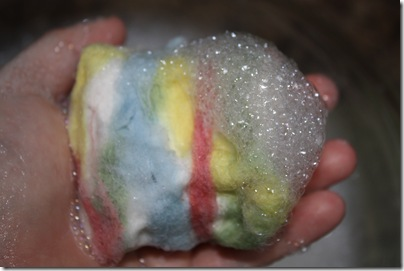 wet felting soap