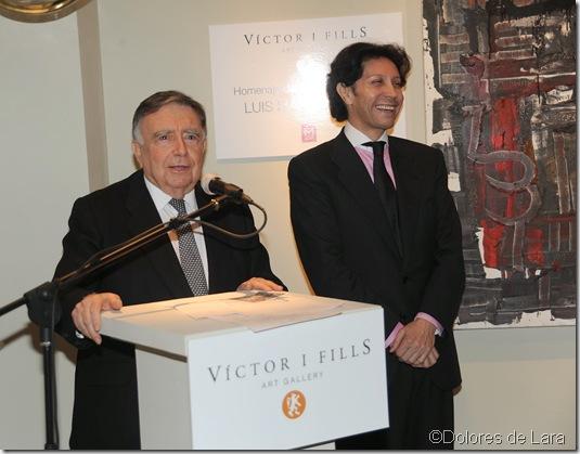 Luis Mª Ansón, en un momento de su intervención, con Carlos Peñaloza, presentador del acto y Director de Radio Intereconomía