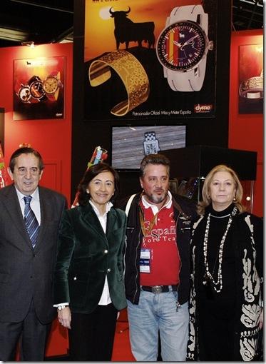 Director General de IFEMA, Rosa Aguilar, Adolfo Arroyo, Director General de Toro Watch y Josefina Gómez de Prada, Directora de Iberjoya