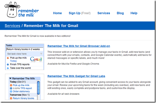 faster input with rememberthemilk gmail widget