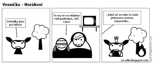 Komiks Vesnička - Horákovi