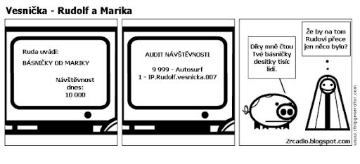 Komiks Vesnička - Rudolf a Marika