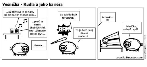 Komiks Vesnička - Rudolf a jeho kariéra