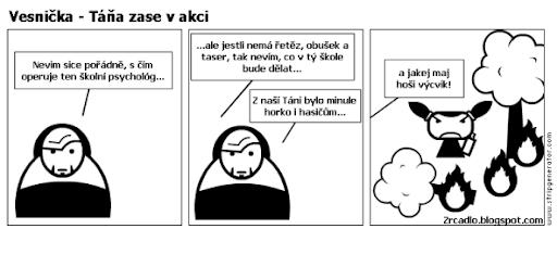 Komiks Vesnička - Táňa Horáková opět v akci.
