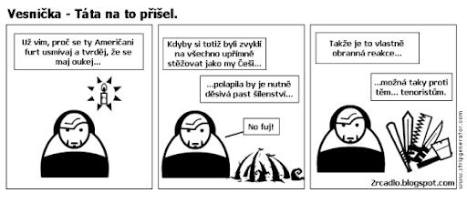 Komiks Vesnička - Táta na to přišel.