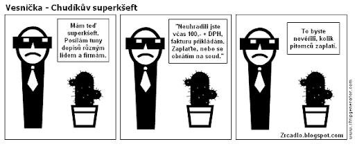 Komiks Vesnička - Chudíkův superkšeft.