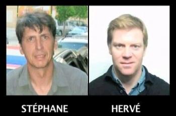 Hervé Ghesquière y Stéphane Taponier