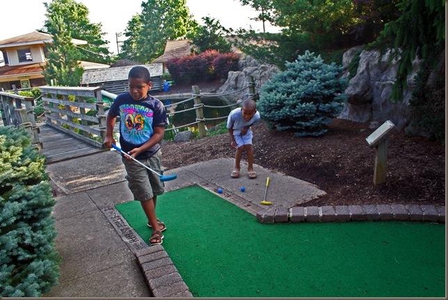 summer naji golfing 2