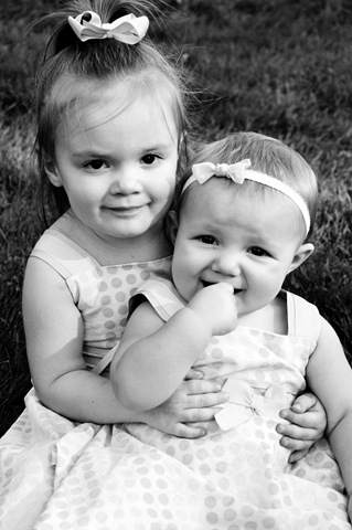 little sisters bright b&w