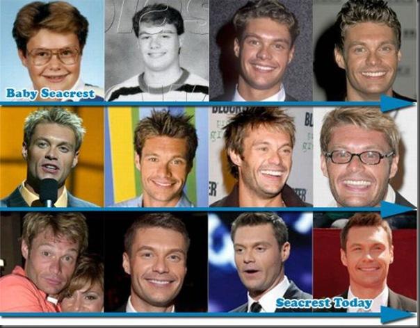 Mudança no estilo de cabelo dos famosos