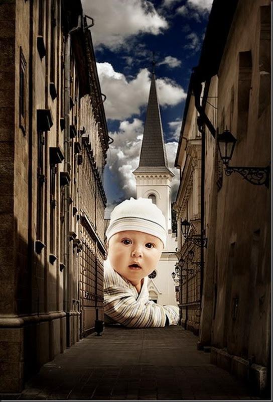 Grandes crianças em uma pequena cidade (1)